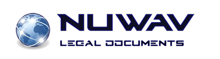 Logo with three overlapping papers and the words NuWav Legal Documents